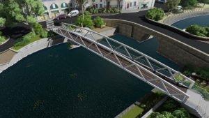 Projet de passerelle sur le canal du midi