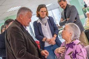 Visite d'Emmanuelle Ménard à l'EHPAD