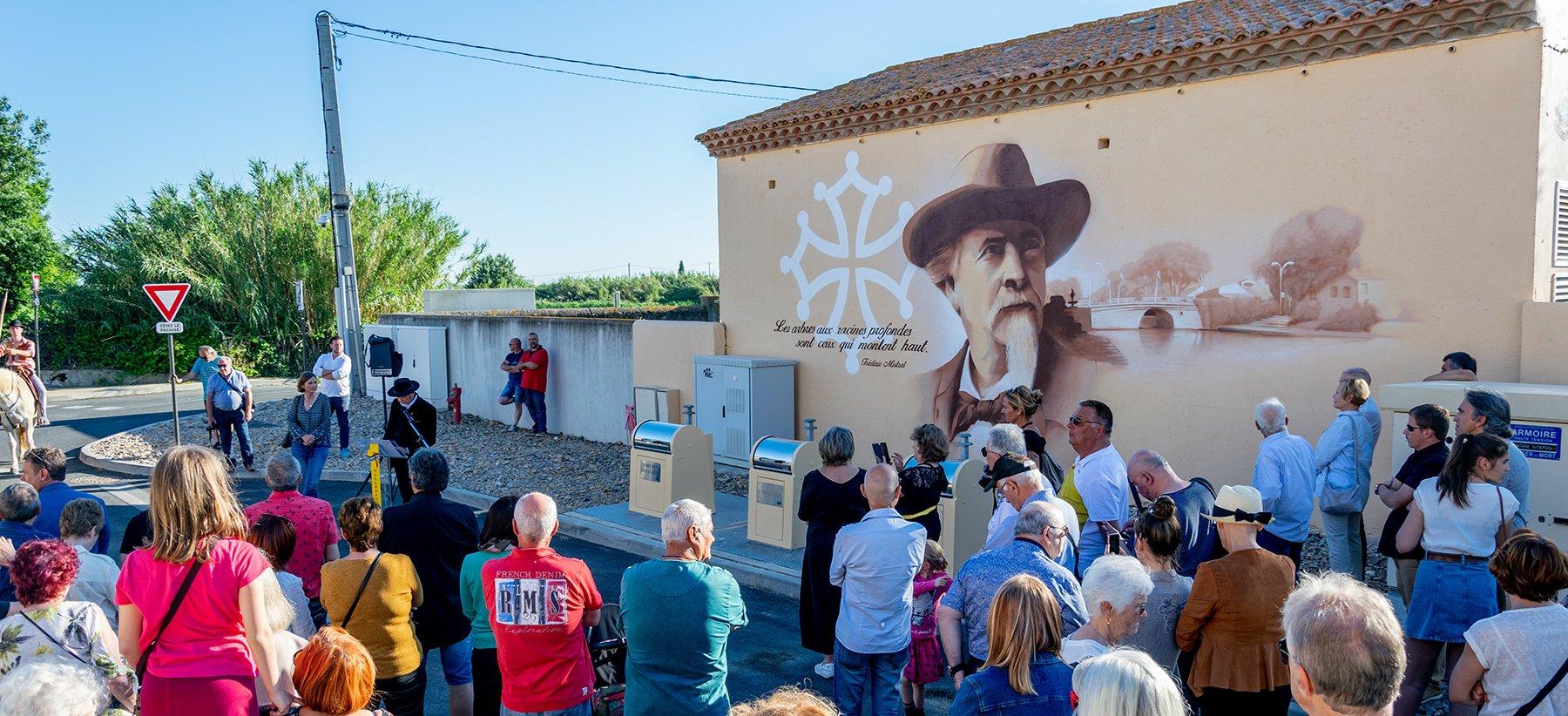 Inauguration de la fresque Frédéric Mistral
