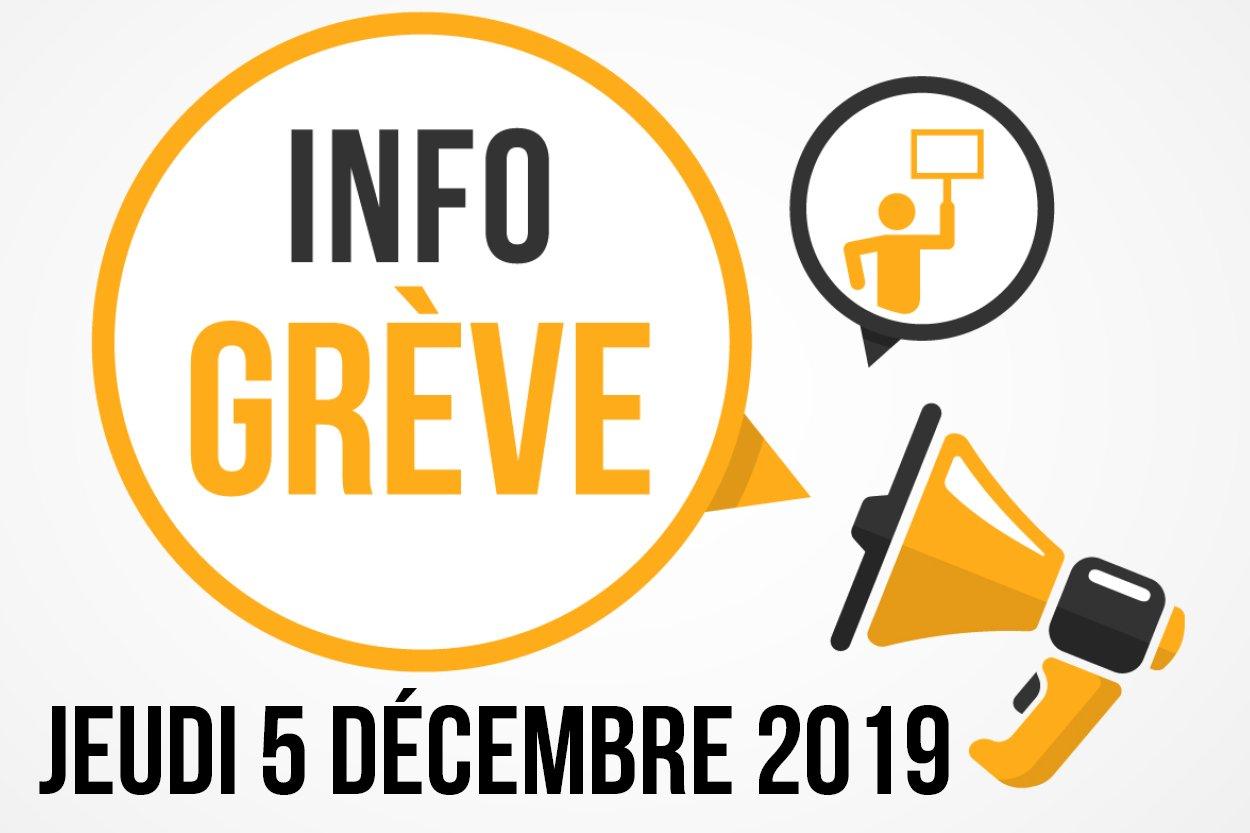 Grève nationale 5 décembre 2019