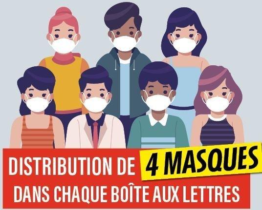 La ville distribue des masques