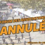 Annulation Forum des associations