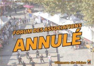 Annulation Forum des associations