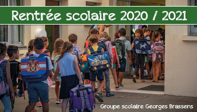 Rentrée scolaire 2020/2021
