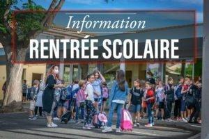 Information rentrée scolaire
